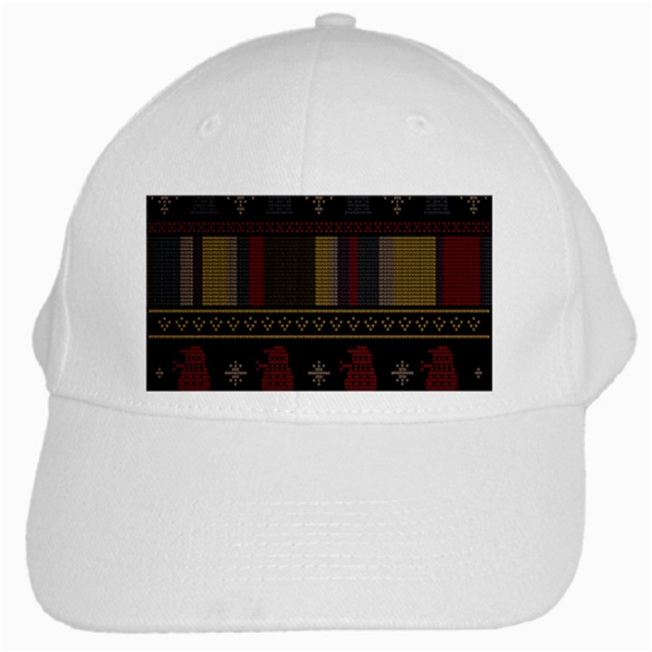 Tardis Doctor Who Ugly Holiday White Cap