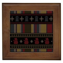 Tardis Doctor Who Ugly Holiday Framed Tiles