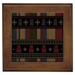Tardis Doctor Who Ugly Holiday Framed Tiles Front