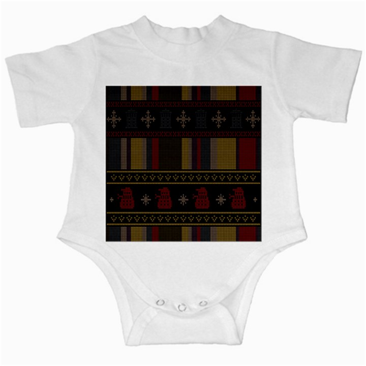 Tardis Doctor Who Ugly Holiday Infant Creepers