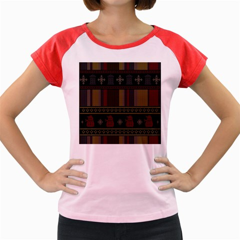 Tardis Doctor Who Ugly Holiday Women s Cap Sleeve T-Shirt