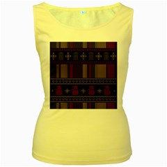 Tardis Doctor Who Ugly Holiday Women s Yellow Tank Top