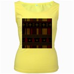Tardis Doctor Who Ugly Holiday Women s Yellow Tank Top Front