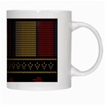 Tardis Doctor Who Ugly Holiday White Mugs Right