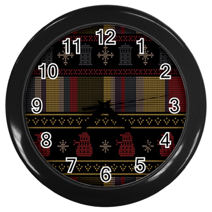 Tardis Doctor Who Ugly Holiday Wall Clocks (Black)