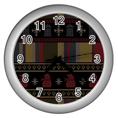 Tardis Doctor Who Ugly Holiday Wall Clocks (silver)