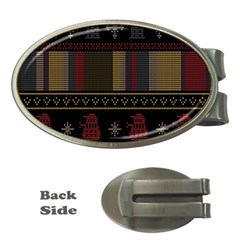 Tardis Doctor Who Ugly Holiday Money Clips (oval)