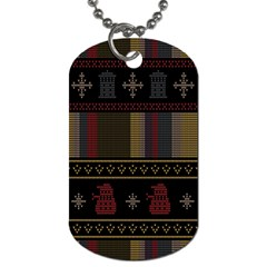 Tardis Doctor Who Ugly Holiday Dog Tag (One Side)