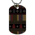 Tardis Doctor Who Ugly Holiday Dog Tag (One Side) Front