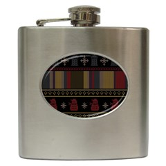Tardis Doctor Who Ugly Holiday Hip Flask (6 oz)