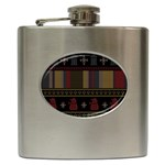 Tardis Doctor Who Ugly Holiday Hip Flask (6 oz) Front