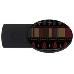 Tardis Doctor Who Ugly Holiday USB Flash Drive Oval (2 GB)