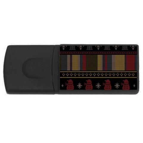 Tardis Doctor Who Ugly Holiday USB Flash Drive Rectangular (1 GB)