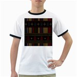 Tardis Doctor Who Ugly Holiday Ringer T-Shirts Front