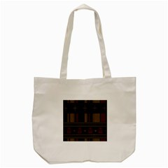 Tardis Doctor Who Ugly Holiday Tote Bag (Cream)