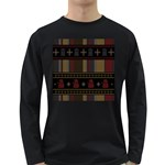 Tardis Doctor Who Ugly Holiday Long Sleeve Dark T-Shirts Front