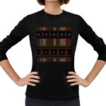 Tardis Doctor Who Ugly Holiday Women s Long Sleeve Dark T-Shirts Front