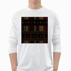 Tardis Doctor Who Ugly Holiday White Long Sleeve T-Shirts