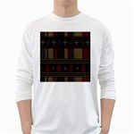 Tardis Doctor Who Ugly Holiday White Long Sleeve T-Shirts Front