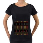 Tardis Doctor Who Ugly Holiday Women s Loose-Fit T-Shirt (Black) Front