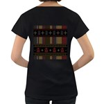 Tardis Doctor Who Ugly Holiday Women s Loose-Fit T-Shirt (Black) Back