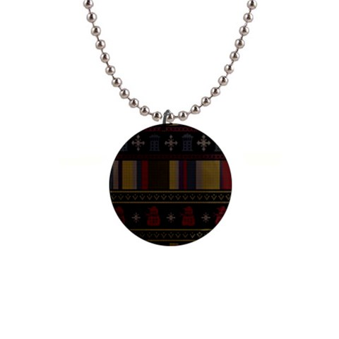 Tardis Doctor Who Ugly Holiday Button Necklaces
