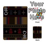 Tardis Doctor Who Ugly Holiday Playing Cards 54 Designs  Front - SpadeK