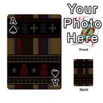 Tardis Doctor Who Ugly Holiday Playing Cards 54 Designs  Front - SpadeA