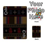 Tardis Doctor Who Ugly Holiday Playing Cards 54 Designs  Front - Spade4