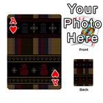 Tardis Doctor Who Ugly Holiday Playing Cards 54 Designs  Front - HeartA