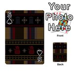 Tardis Doctor Who Ugly Holiday Playing Cards 54 Designs  Front - Spade5