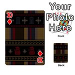 Tardis Doctor Who Ugly Holiday Playing Cards 54 Designs  Front - Diamond10