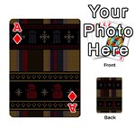 Tardis Doctor Who Ugly Holiday Playing Cards 54 Designs  Front - DiamondA