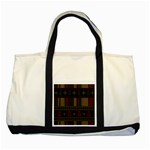 Tardis Doctor Who Ugly Holiday Two Tone Tote Bag Front