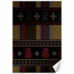 Tardis Doctor Who Ugly Holiday Canvas 12  x 18   18 x12 Canvas - 1