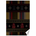 Tardis Doctor Who Ugly Holiday Canvas 20  x 30   30 x20 Canvas - 1