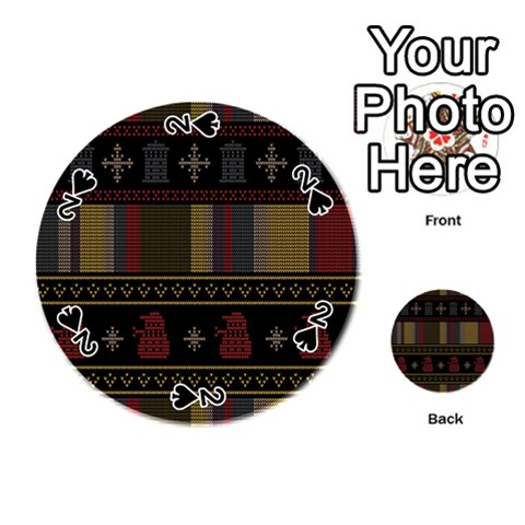 Tardis Doctor Who Ugly Holiday Playing Cards 54 (Round)
