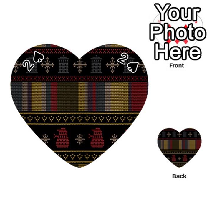 Tardis Doctor Who Ugly Holiday Playing Cards 54 (Heart)