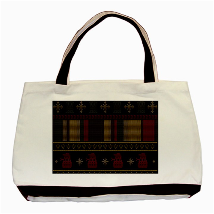 Tardis Doctor Who Ugly Holiday Basic Tote Bag (Two Sides)
