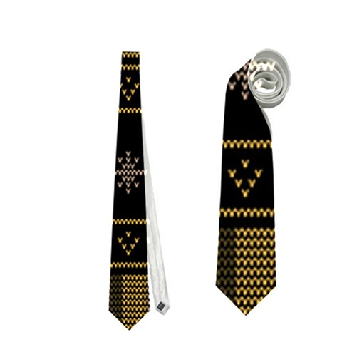 Tardis Doctor Who Ugly Holiday Neckties (One Side)