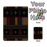 Tardis Doctor Who Ugly Holiday Multi-purpose Cards (Rectangle)  Back 40