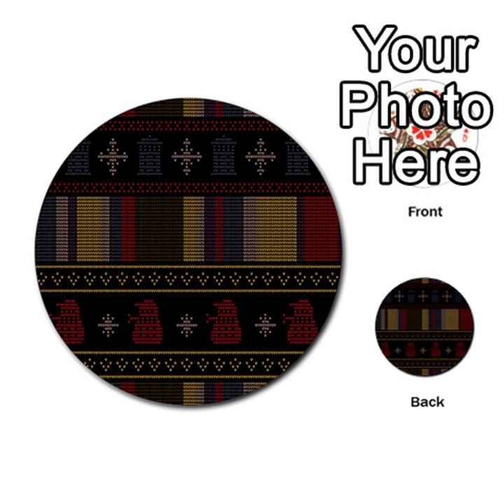 Tardis Doctor Who Ugly Holiday Multi-purpose Cards (Round)