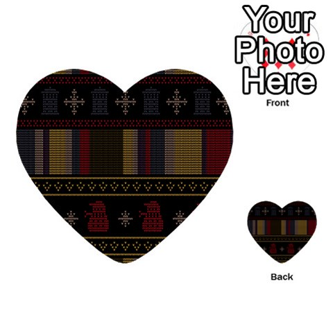 Tardis Doctor Who Ugly Holiday Multi-purpose Cards (Heart)