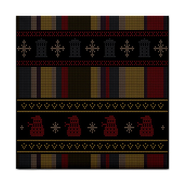 Tardis Doctor Who Ugly Holiday Face Towel