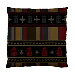 Tardis Doctor Who Ugly Holiday Standard Cushion Case (Two Sides) Front