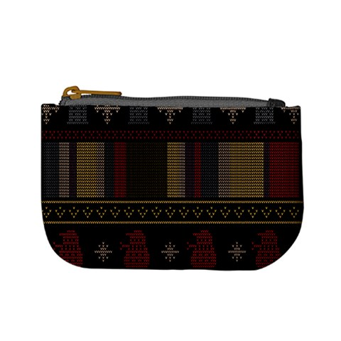 Tardis Doctor Who Ugly Holiday Mini Coin Purses