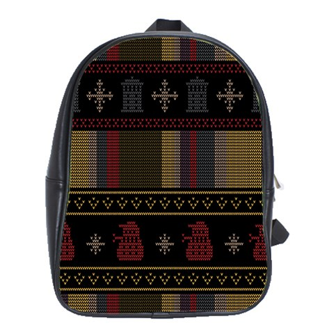 Tardis Doctor Who Ugly Holiday School Bags(Large)