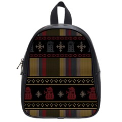 Tardis Doctor Who Ugly Holiday School Bags (Small)