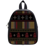 Tardis Doctor Who Ugly Holiday School Bags (Small)  Front