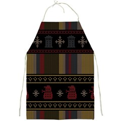 Tardis Doctor Who Ugly Holiday Full Print Aprons
